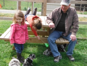 Great Grampa & the Grandkids Playing w the Puppies